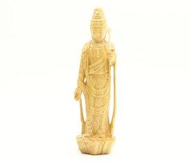 観音菩薩 仏像 木彫 聖観音 (ミニ) No.2