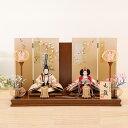 雛人形 ひな人形 親王飾 芥子 流水小花 たまき屏風飾