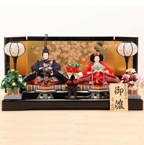三五 段織 松竹梅 本金蒔絵屏風飾