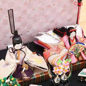 豆丸紋桜市松屏風親王飾2