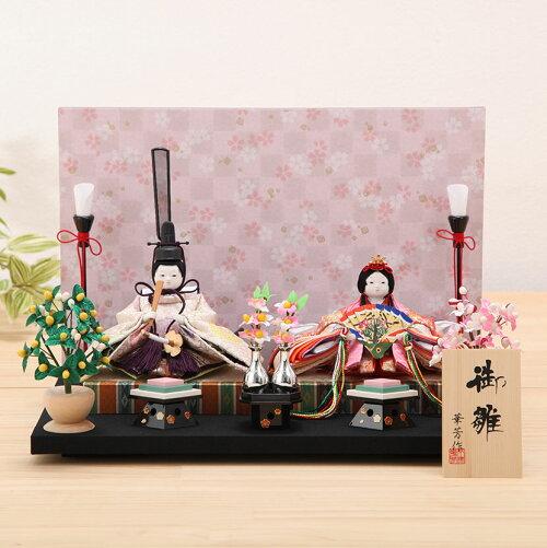 豆 丸紋 桜市松屏風 親王飾