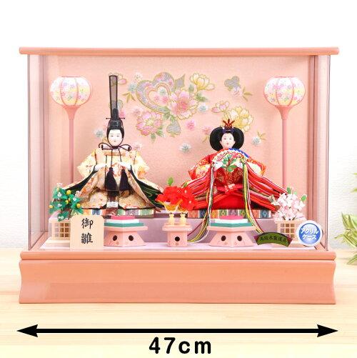 京三五 桜刺繍 アクリル親王ケース飾