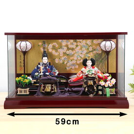 ひな人形 ケース雛 京三五 桜華ワイン パノラマ親王ケース飾