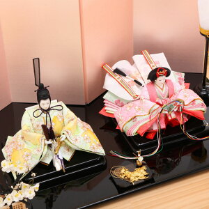 雛人形ひな人形十一番小出松寿作京刺繍桜文様親王飾