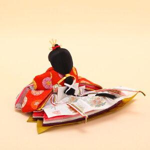 雛人形ひな人形十番大橋弌峰作徳印黄櫨染親王飾り