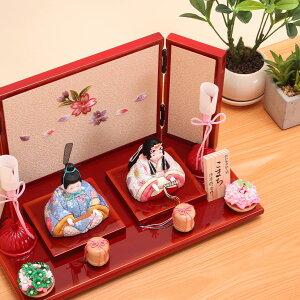 折原粋玉(おりはらすいぎょく)作こまちチリメン花舞桜屏風飾2