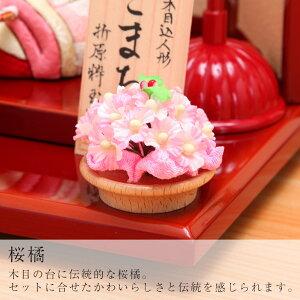 折原粋玉(おりはらすいぎょく)作こまちチリメン花舞桜屏風飾7