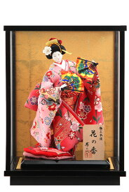 日本人形 5号 寿喜代作 花の香 舞 ケース飾