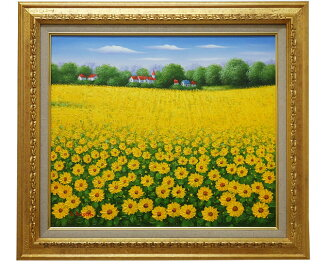 """◆ painting """"Sunflowers"""" L... Austin F10 oil on canvas painting"""