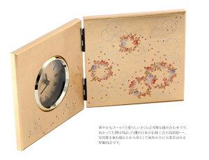蒔絵小物山中漆器かりん屏風時計日本のおみやげ【名入れ可能】【メール便不可】