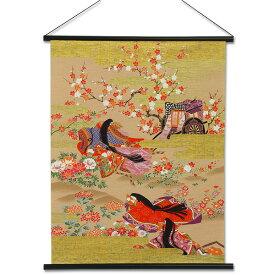 【日本土産 和風インテリア】友禅和紙タペストリー 源氏花あそび 国産品