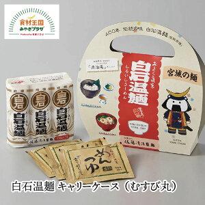【送料無料】白石温麺 むすび丸 キャリーケース 3人前 つゆ付 お土産 うーめん 佐藤清治製麺 パッケージ 父の日