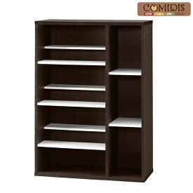 本棚 大容量 コミックシェルフ 木製 マンガ収納ラック CD収納ラック DVD収納ラック2