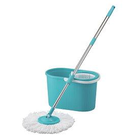 回転モップセット 水ぶきモップ バケツセット 家庭用品 掃除道具 一人暮らし タイル フローリング 窓ガラス 掃除