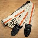 Couch Guitar Straps/Vinyl Racer X Guitar Strap White with Orange【在庫あり】
