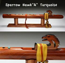 """[インディアンフルート] Sparrow Hawk """"A"""" Turqoise Aromatic Cedar 113-CT (DVD&BOOK付き) ※送料無料【プレゼント】☆おうちde楽器"""