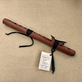 """[インディアンフルート] Pocket Flute """"G"""" Cedar 605【プレゼント】☆おうちde楽器"""