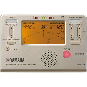 YAMAHA ヤマハ チューナーメトロノーム TDM-700G ゴールド