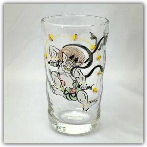 【送料無料】「京焼の絵付師が描いた 雷神タンブラー」手描き 化粧箱入り 京都 グラス 和小物 和雑貨 コップ ビアグラス ジュース・ビール・ハイボール・酎ハイに ロングタンブラー 伝統