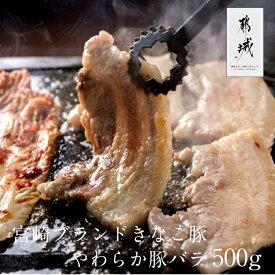 きなこ豚バラ焼き肉500g大豆きなこで育てた、宮崎のブランド豚肉「きなこ豚」が贅沢な焼肉セットに宮崎県産豚肉【株式会社はざま牧場】