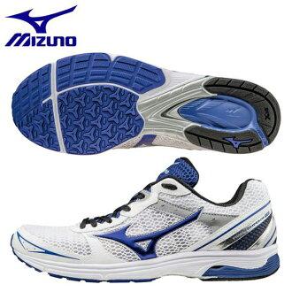 美津浓跑步鞋波皇帝TR J1GA168627白×蓝色
