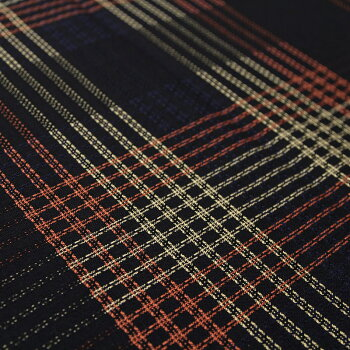 宮田織物はんてん半纏結ゆいメンズレディース日本製冬チェック中わた綿80%・ポリエステル20%黒/赤/グレーフリー