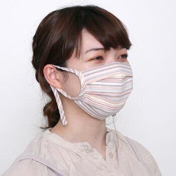 【送料込】プリーツ布マスクアジャスター付きしじら全3色夏向け1サイズのみ