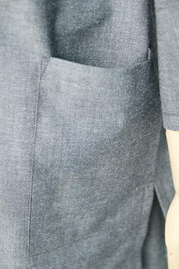 甚平(じんべい)ちぢみ織り無地・グレー【日本製】【プレゼント/ギフト】【RCP】