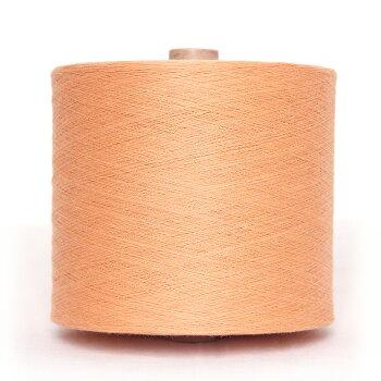 【送料込】織り糸中巻薄橙(うすだいだい)和木綿(わもめん)の糸約750g40/2宮田織物