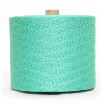 【送料込】織り糸太巻グリーン和木綿(わもめん)の糸約900g40/2宮田織物