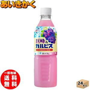 500mlPET×24本(1ケース)アサヒ飲料 巨峰&カルピス 500mlPET【賞味期限:2021年2月】