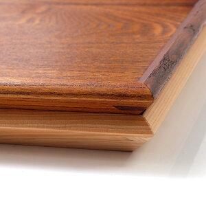 天然木製羽反40cm長角膳漆塗り