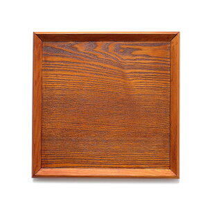 天然木製羽反30cm角膳漆塗り