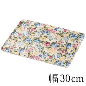 紀州塗り トレー 10寸 30cm フローラ 布貼 ノンスリップ 洋風 和風 花柄 おしゃれ トレイ 日本製