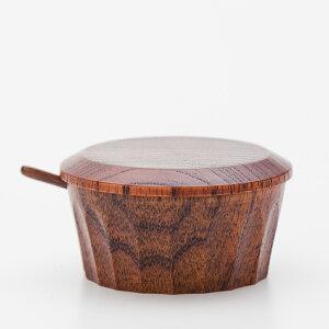 天然木製 スパイスボックス 小さじ付 漆塗り