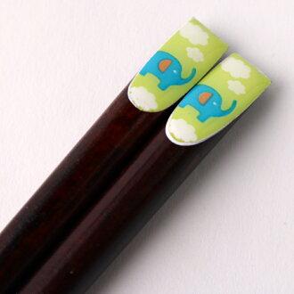 天然木制儿童筷子往角落里大象 18 厘米