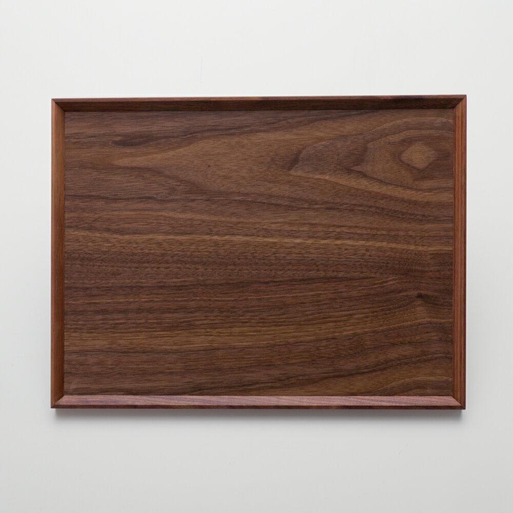 天然木製 ウォールナット 長角 スタイルトレー 40cm