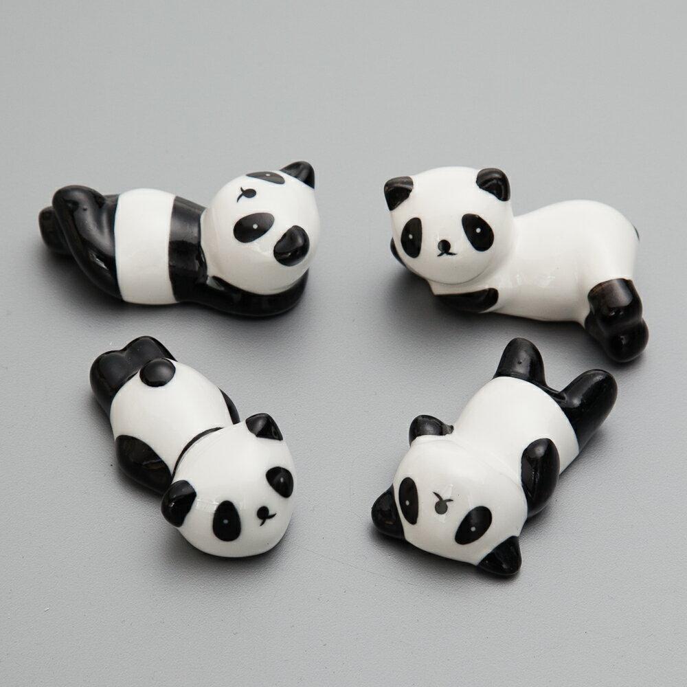 箸置き パンダの箸休め 4匹セット 陶器製