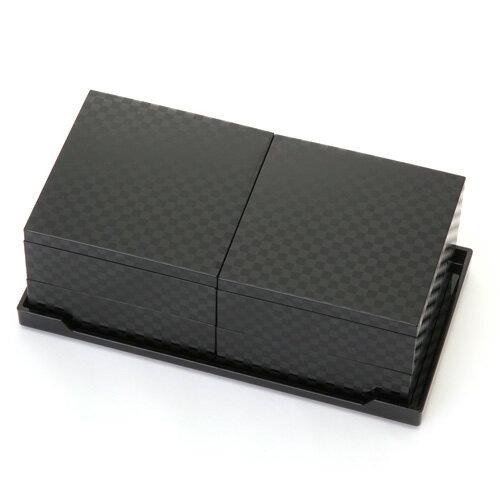 ≪送料無料≫4寸 二段オードブル 重箱 チェス(黒)