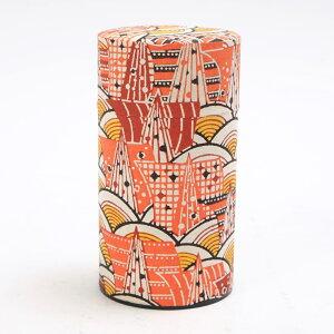茶筒 日本製 はいからさん(L) モダン青海波 保存容器 ぽッ・かん ぽっかん ポッカン おしゃれ かわいい 和雑貨 ブリキ