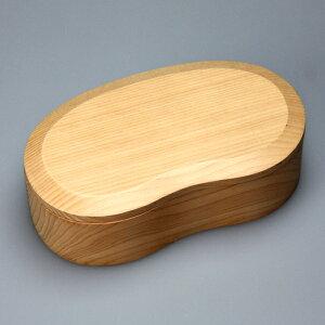 \送料無料/天然木製くりぬきそらまめ弁当箱白木【お弁当箱】【lucky5days】