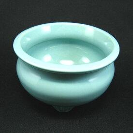 せともの青磁香炉 香呂 線香立て 3号 3寸 せともの 陶器 で作った仏具 店頭受取対応商品
