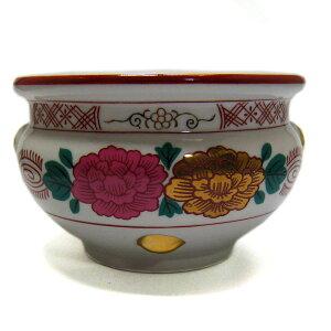 せともの香炉 香呂 線香立て 上錦 5号 5寸 せともの 陶器 で作った仏具 店頭受取対応商品