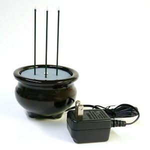 サンやすらぎ2.5寸 ACタイプ ACアダプター仕様 茶色 電子線香 サンブライトロン 茶香炉 香呂 線香立て 火を使わない線香 電子の炎で安全 便利! 安心線香 店頭受取対応商品
