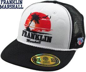 FRANKLIN&MARSHALL/フランクリンアンドマーシャルCAPSメッシュキャップ/ベースボールキャップBLACK(ホワイト×ブラック)/CPUA911S17