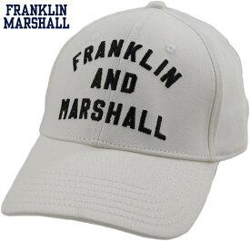 FRANKLIN&MARSHALL/フランクリンアンドマーシャルCAPSアーチロゴ刺繍入り、ベースボールキャップMILK(ミルクホワイト)/SKU #CPUA906S18