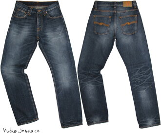 Nudie Jeans co (nudie jeans) STRAIGHT ALF( straight Alf) ORG. INDIGO DEPTH( is organic; indigo デプス)