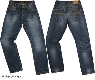 Nudie Jeans co/牛羚D牛仔褲STRAIGHT ALF/sutoretoarufu ORG. INDIGO DEPTH(有機,靛藍·深度)