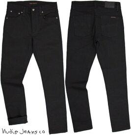 Nudie Jeans co/ヌーディージーンズ LEAN DEAN/リーンディーン DRY EVER BLACK(ドライ エバー ブラック) 12oz. comfort stretch denimストレッチ スキニー・ブラックデニム/ブラックジーンズ