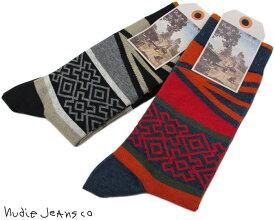 Nudie Jeans co/ヌーディージーンズ OLSSON FOLK SOCKS フォーク柄 ソックス/靴下